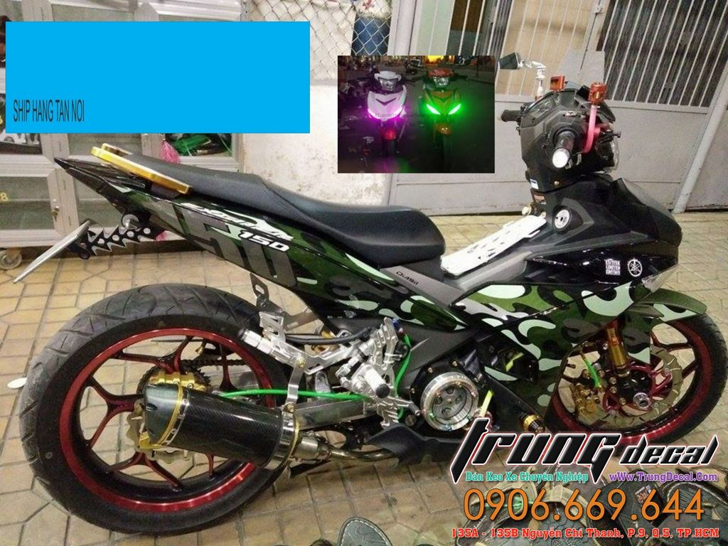 Exciter 150 Tem Xe Che Do Loc May Trong Suot Po